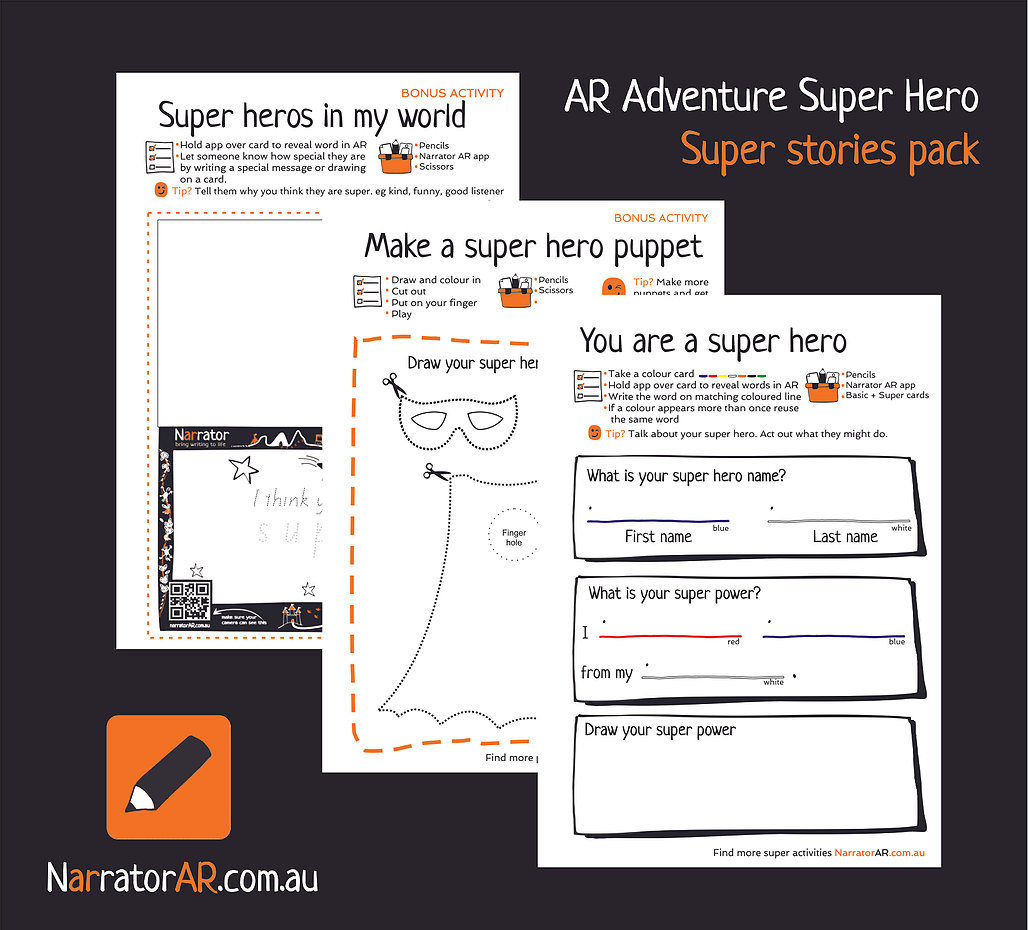 AR Adventure Super Stories Activity Pack