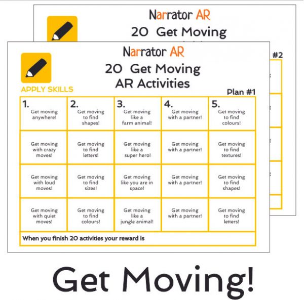 AR Get Moving Activity Book 1