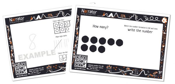 AR Numbers Write and Recognise 1-10 1