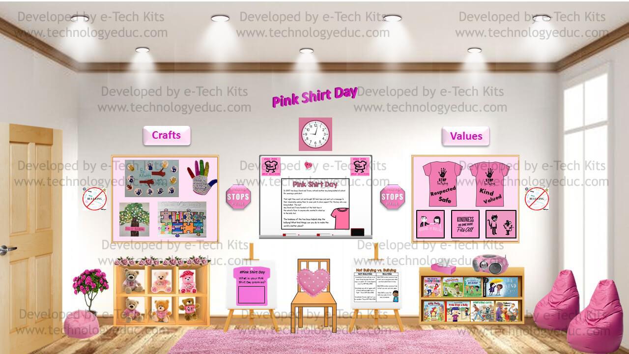 Bitmoji Pink Shirt Day Template