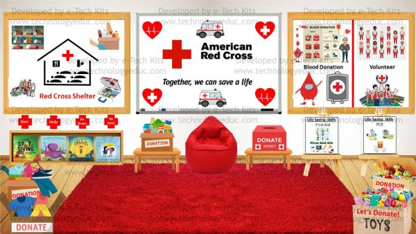 Bitmoji American Red Cross Month Template