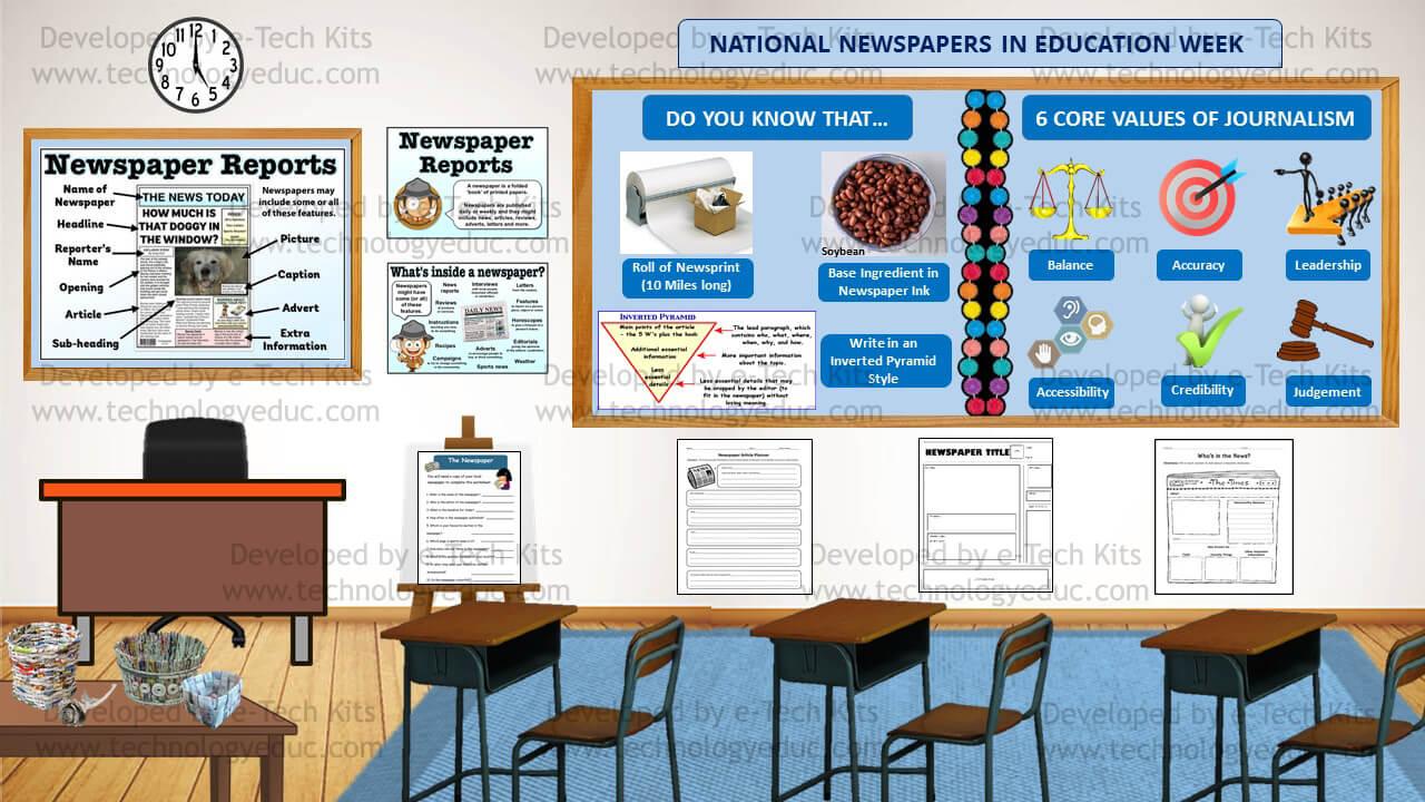 Bitmoji National Newspapers in Education Week Template